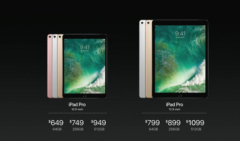 애플, 신형 10.5인치 / 12.9인치 아이패드 프로 발표