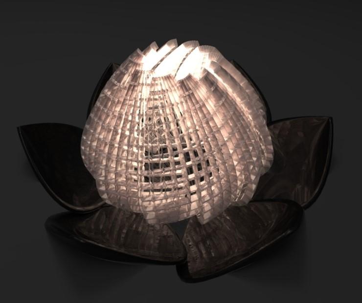 (3D모델링 - 라이노) 연꽃 조명 모델링 및 랜더링