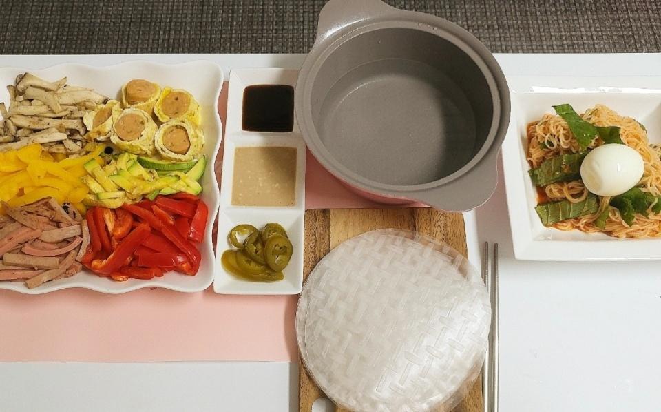 냉장고 털기 월남쌈, 비빔국수