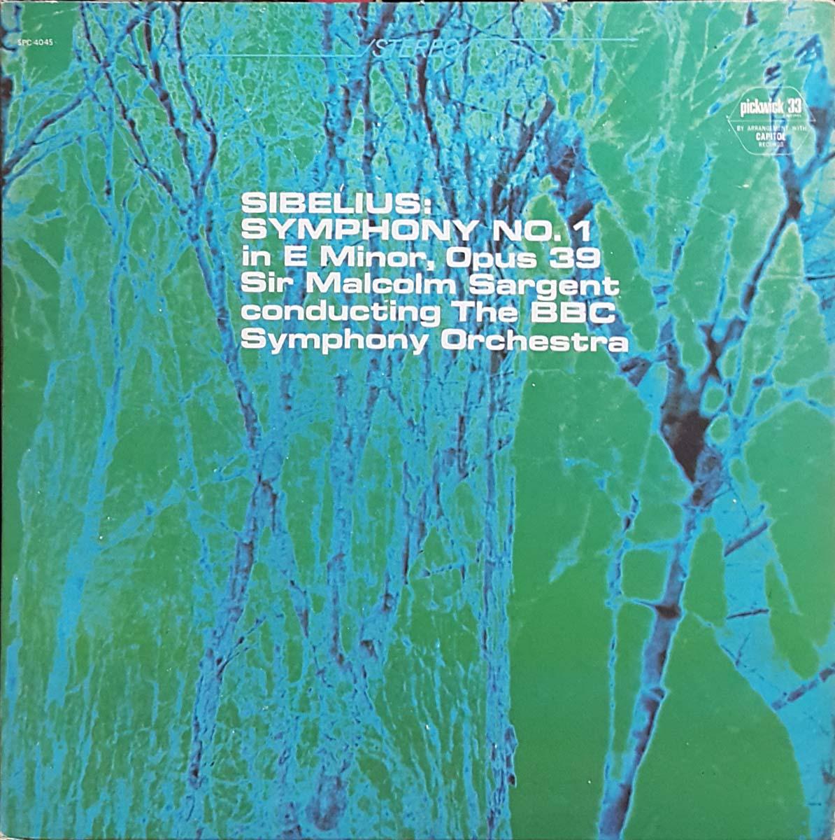 시벨리우스; 교향곡 1번 - 사전트/BBC so.(Pickwi..