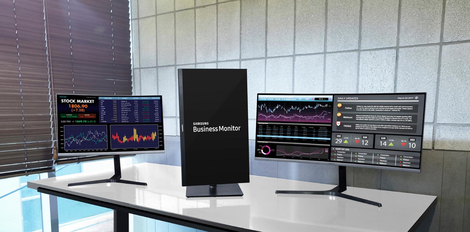 삼성전자 새로운 사무용 모니터 발표