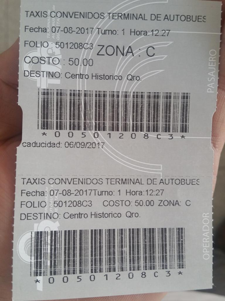 [멕시코] 께레따로 버스 터미널에 도착