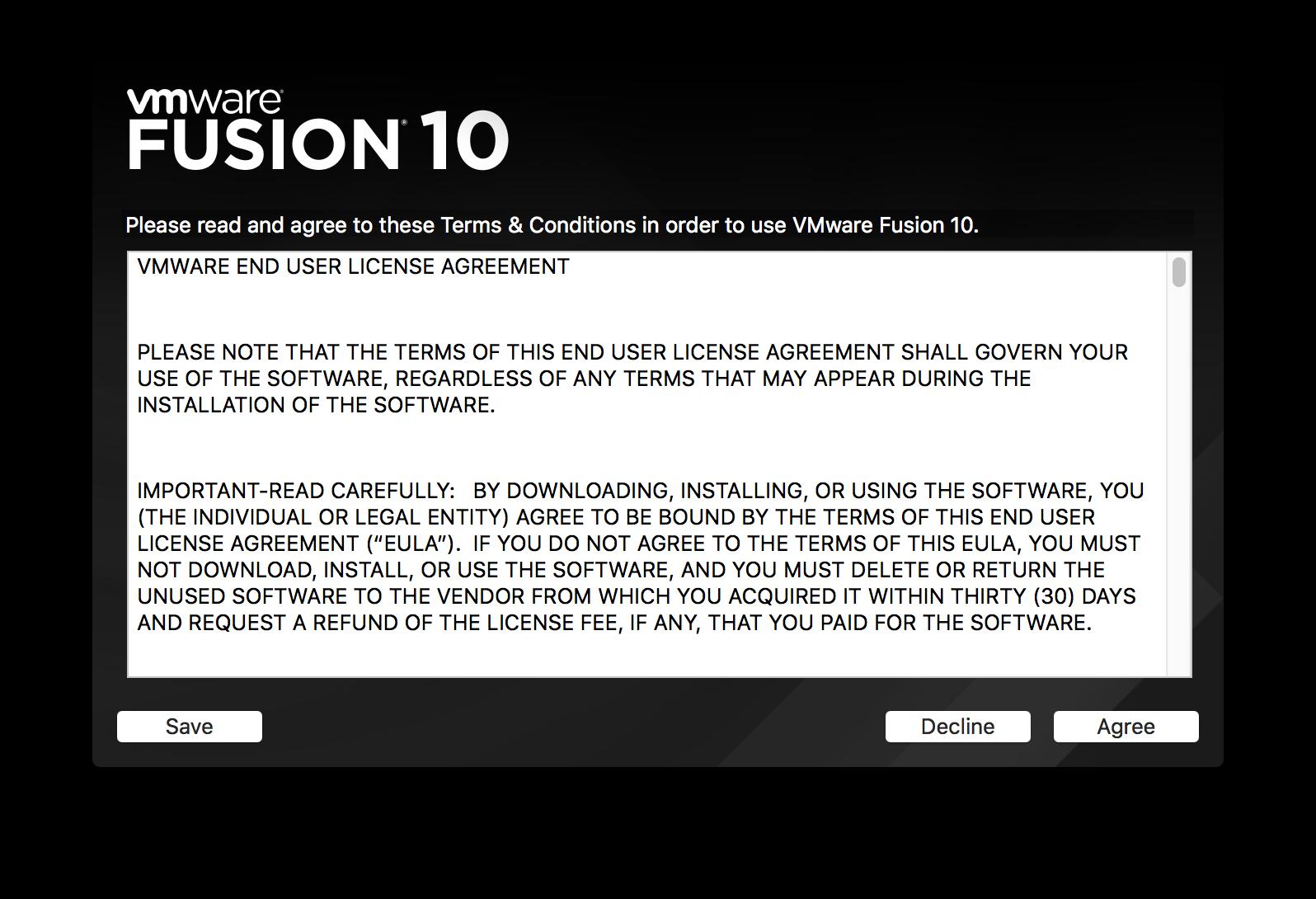 [macOS] VMWare Fusion 10을 이용하여 dock..