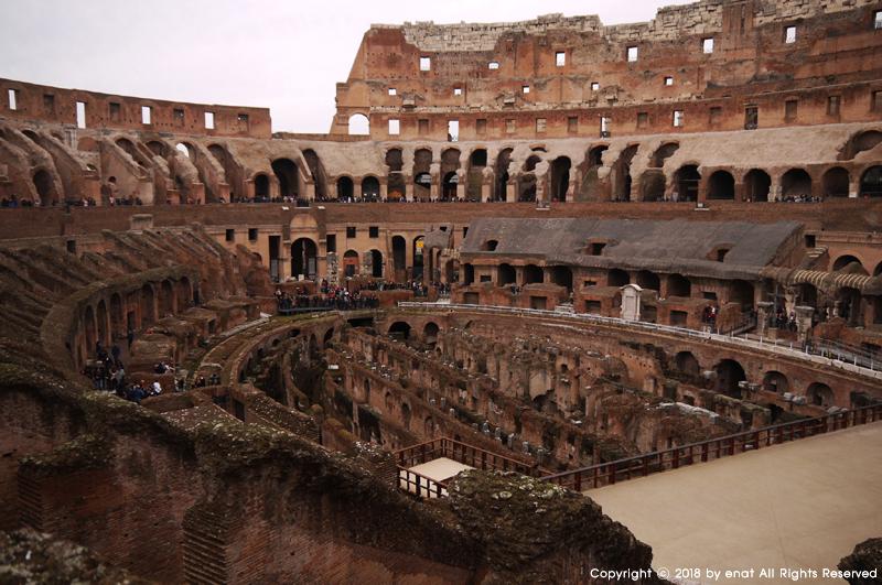 겨울 유럽여행 (33) 로마 : 비수기의 콜로세움과 밤..