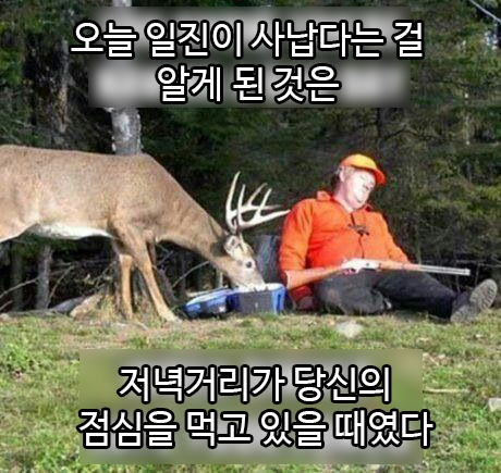 [번역] 사냥 나갈 땐 좋았는데