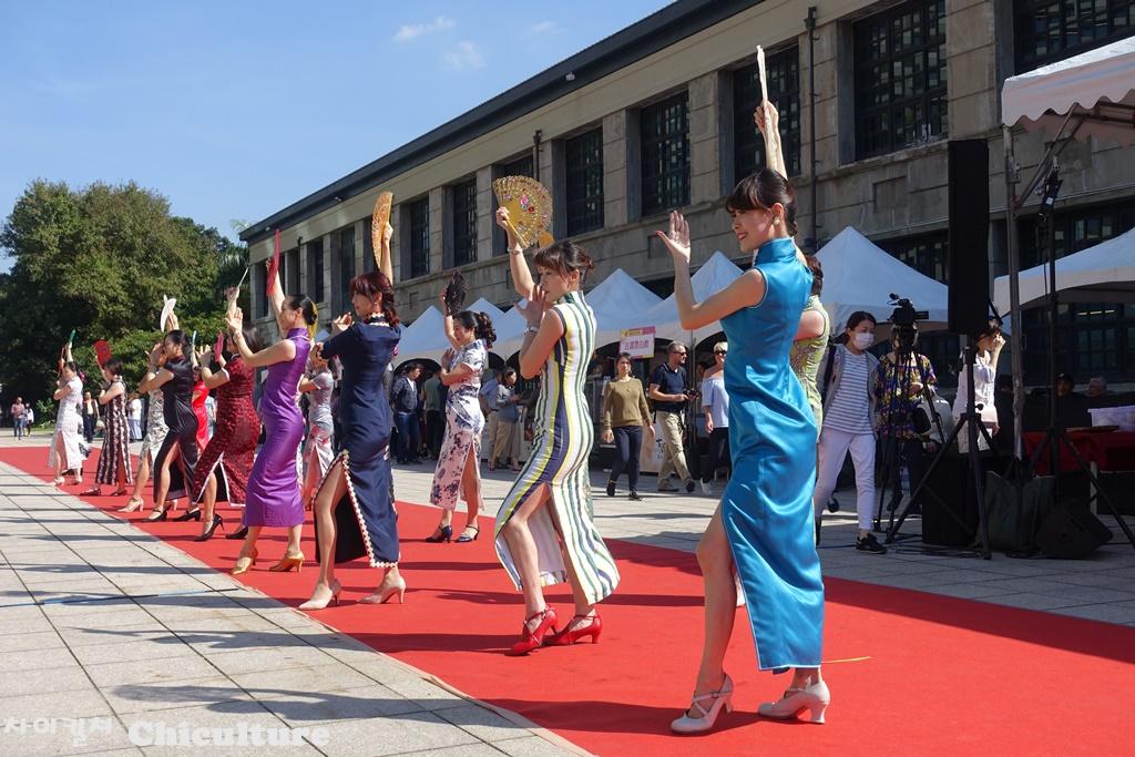 대만 치파오 여성분들의 워킹 및 댄스