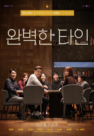 한국 박스오피스 '완벽한 타인' 2주 연속 1위!
