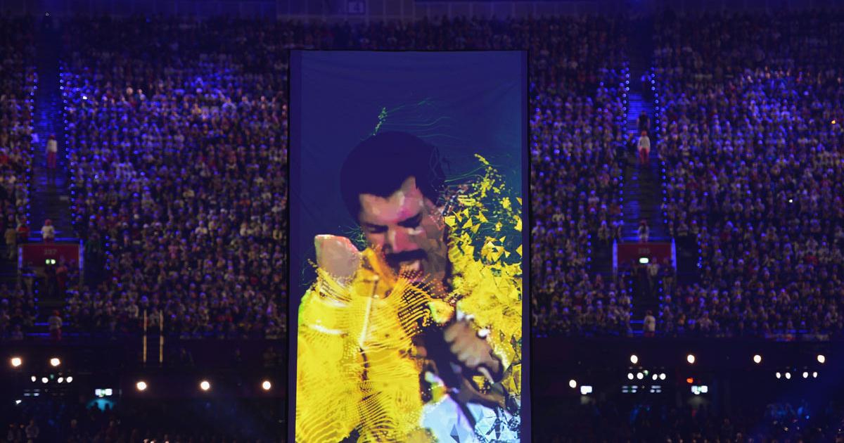 퀸과 제시 J - We Will Rock You (2012년 런던 올림..