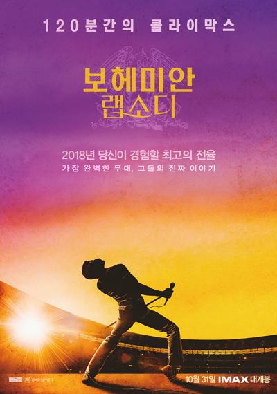 한국 박스오피스 '보헤미안 랩소디' 4주만에 1위!