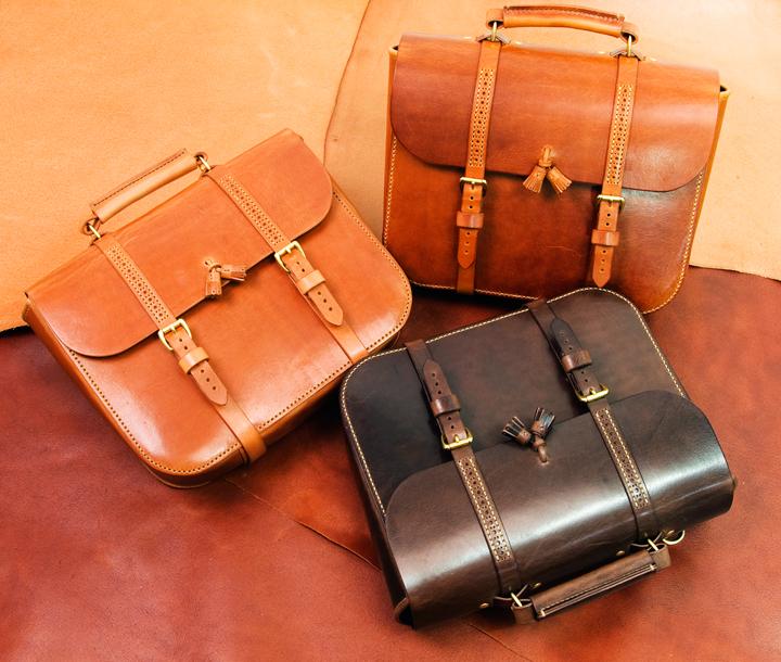 - (Oil Pull-Up) Tassel Satchel Bag (No..