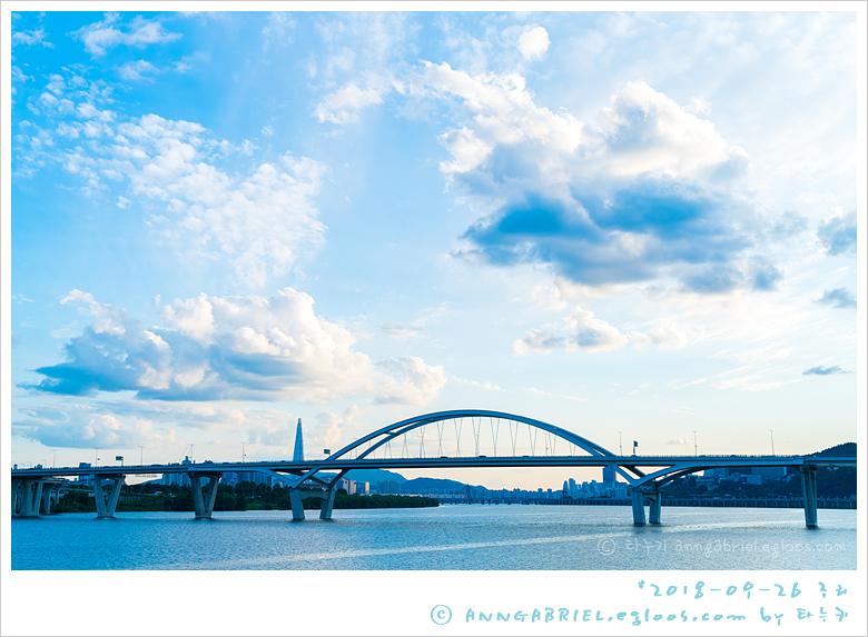 [구리 한강시민공원] 해질녘 강변
