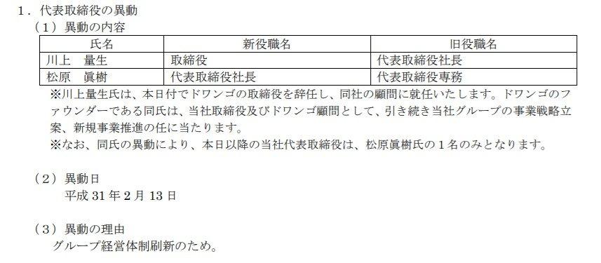 2019년 2월 13일자로 카도카와의 사장이 바뀌었답니다.