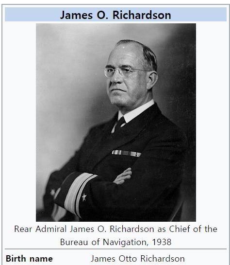 [40년]리처드슨, 함대의 하와이 배치에 반대한 이유?