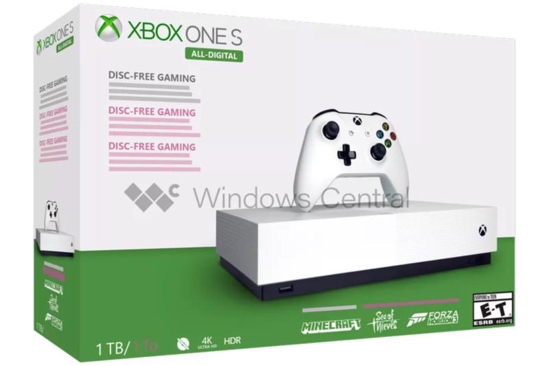엑스박스 원S 올 디지털 에디션, 5월 7일 출시 예정 (Xbox One S all digital edition)