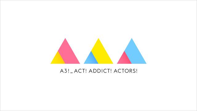 애니메이션 'A3!'의 로고가 공개된 모양입니다.