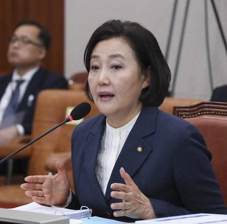 """박영선 의원, """"법사위때 김학의 동영상 봤다. . .."""
