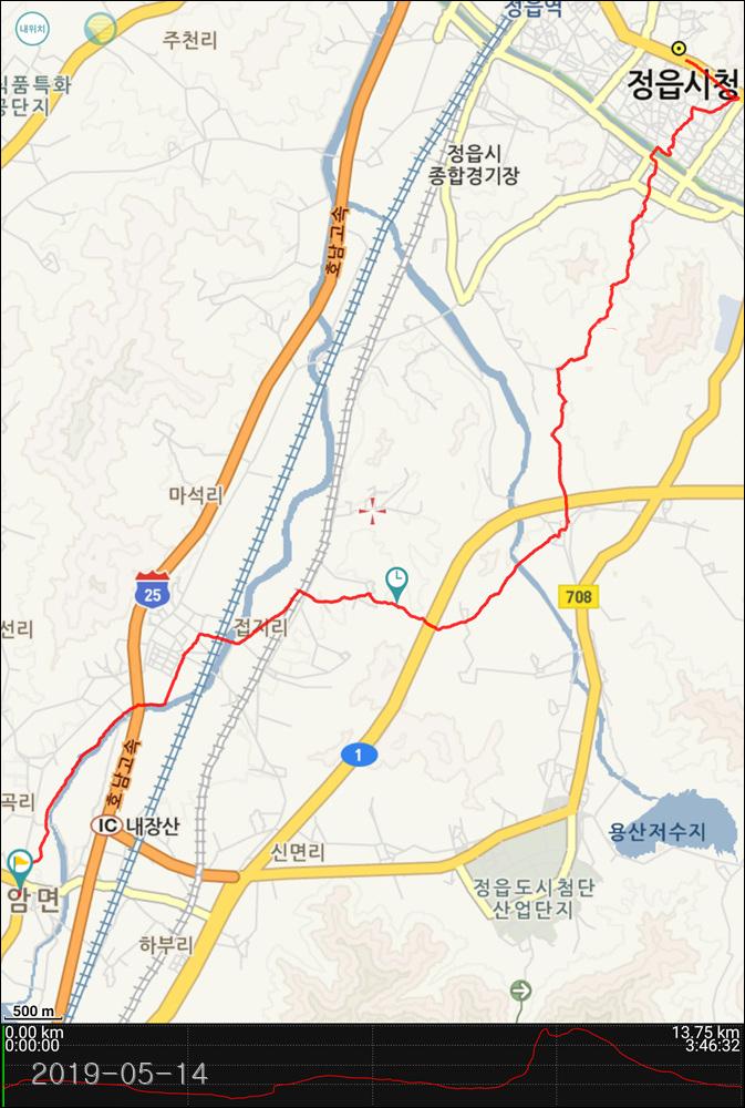 코리아트레일 17구간(입암파출소~정읍시청)...